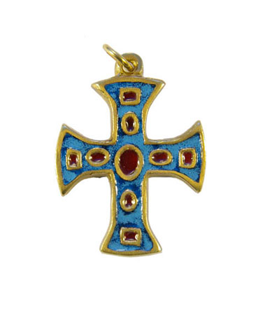 760-Pendentif-religieux-emaux-bleu-4-7cm