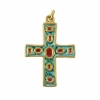 Pendentif communion - Croix et émaux