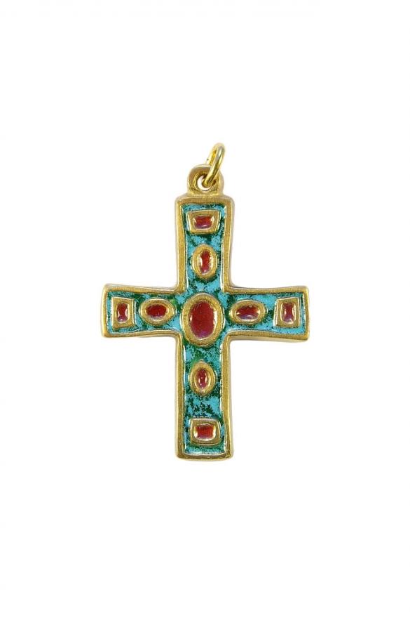 Pendentif communion – Croix et émaux