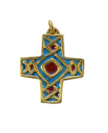 790-Pendentif-religieux-emaux-bleu-4cm