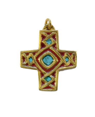 790-Pendentif-religieux-emaux-rouge-4cm