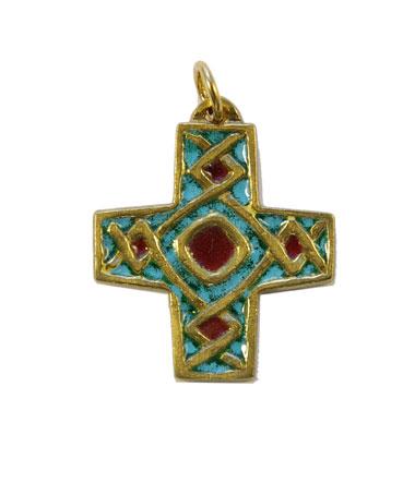 790-Pendentif-religieux-emaux-vert-turquoise-4cm