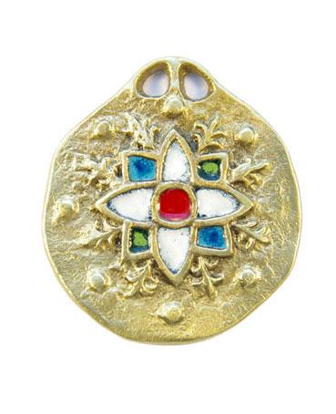 860-Medaillon-medieval-edelweis-blanc-5-5cm
