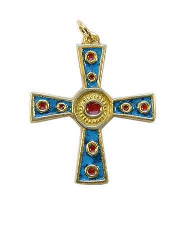 862-croix-celtique-grecque-bleu-5-cm