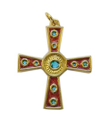 862-croix-celtique-grecque-rouge-5-cm