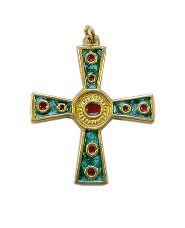 862-croix-celtique-grecque-vert-5-cm