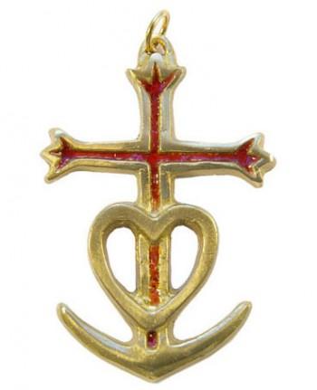 869-Croix-gardians-ancre-rouge-coeur-trident-croix-6-5cm