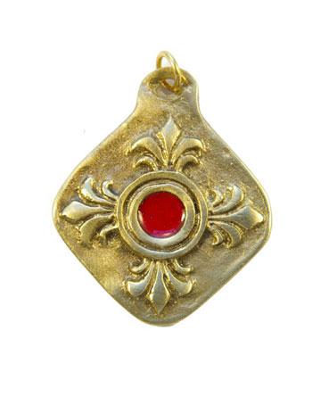 872-bijou-Medaillon-fleur-de-Lys-coeur-rouge-5-5cm