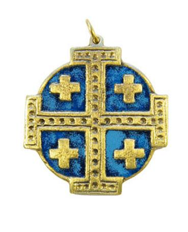 876-bijou-Croix-Jerusalem-email-bleu-5-5cm