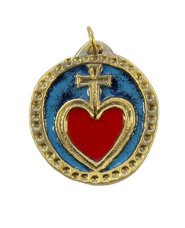 906-bijou-Medaillon-pendentif-Sacre-Coeur-rouge-4-2cm