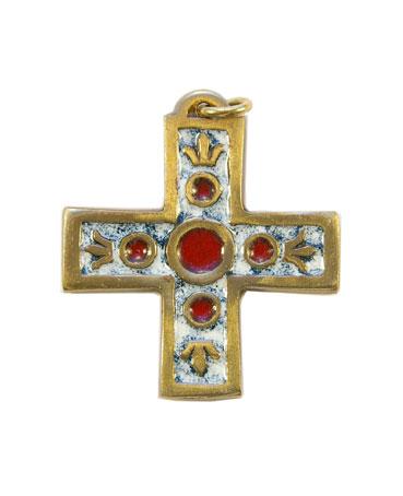938-bijou-medieval-Croix-pendentif-email-blanc-lys-4-3cm