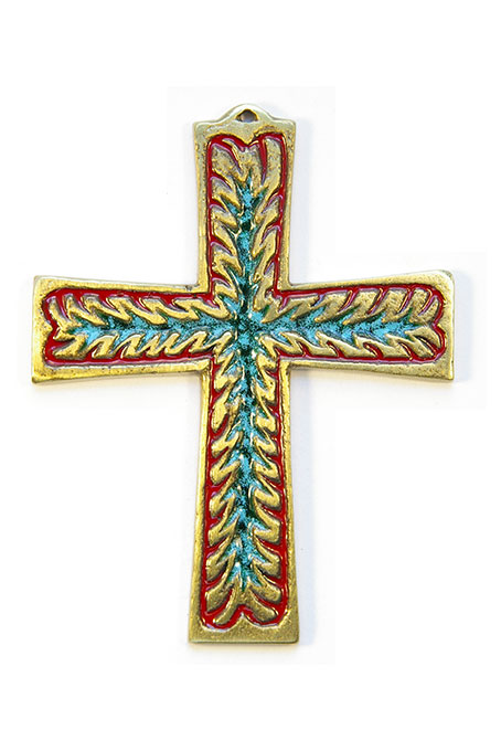 960-Croix-murale-rouge-10-cm