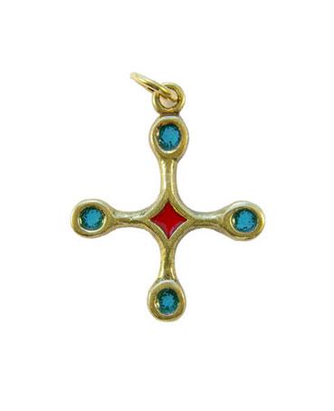 B4-pendentif-religieux-croix-bronze-email-vert-3-9-cm