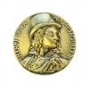 Henri de La Rochejaquelein : médaille historique en bronze sculptée.