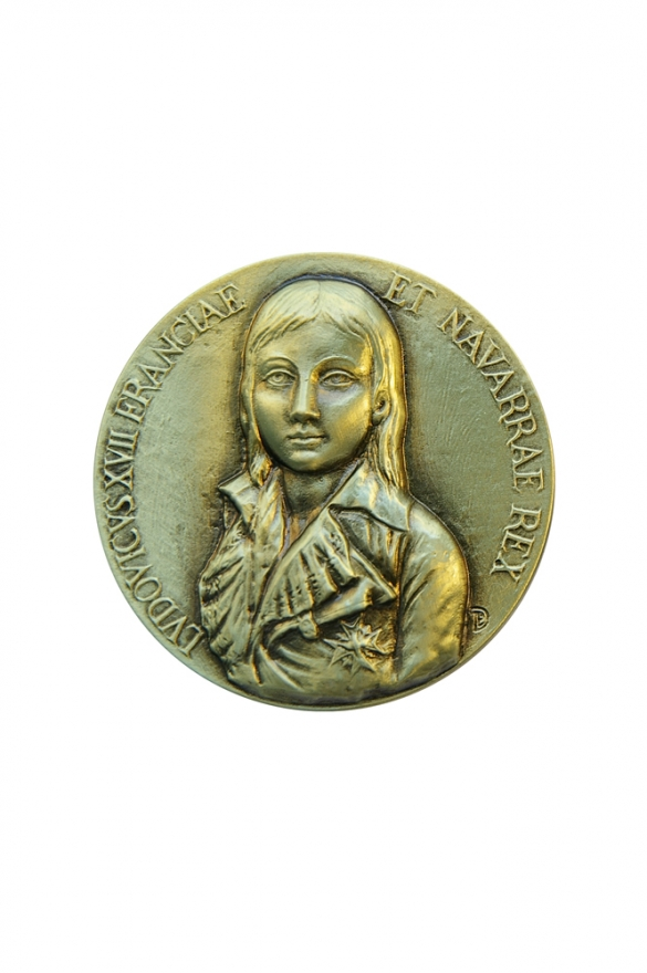 Médaille en bronze à l'effigie de Louis XVII, l'orphelin du Temple.