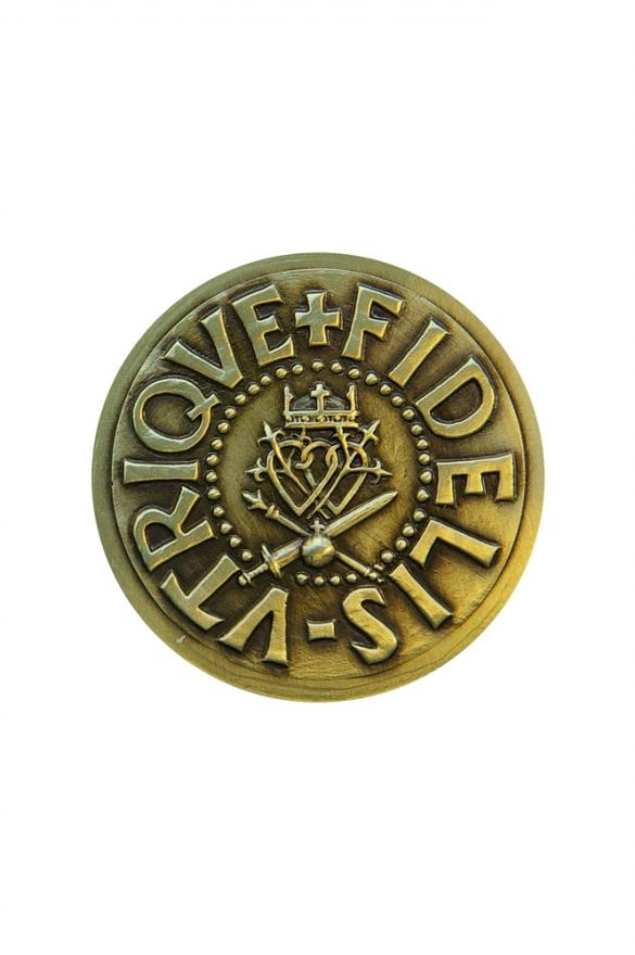 Médaille en bronze à l'effigie de Louis XVII, l'orphelin du Temple. Revers.