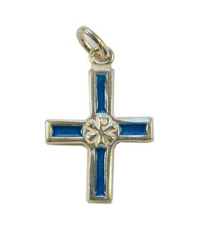 NA0126-bijou-chrisme-Croix-argent-email-bleu-3cm