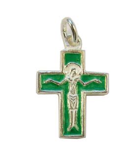 NA0181-croix-argent-Christ-cadeau-bapteme-email-vert-2-6cm