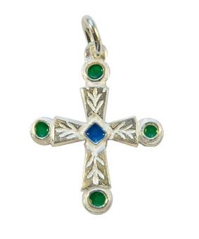 NA0192-Petite-croix-pendentif-argent-centre-bleu-3cm