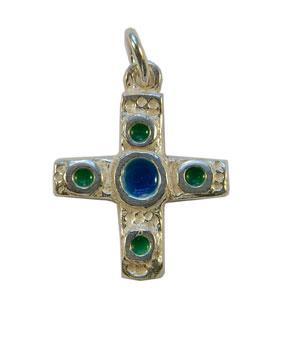 NA0224-Croix-pendentif-argent-cabochon-centre-bleu-2-8cm