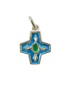 NA73-Croix-argent-bijou-enfant-emaille-bleu-2cm