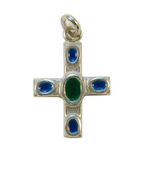 NAB5-bijou-religieux-pendentif-croix-argent-email-cabochon-coeur-vert-3cm