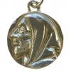 Médaille de saint Benoît en argent massif - le recto : portrait de saint Benoît