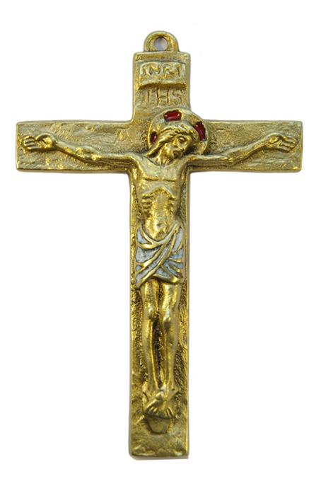 0116-Christ-croix-murale-latine-blanc-14cm