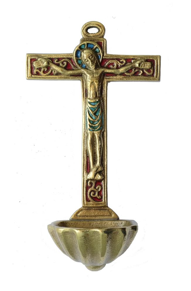 Croix bronze bénitier