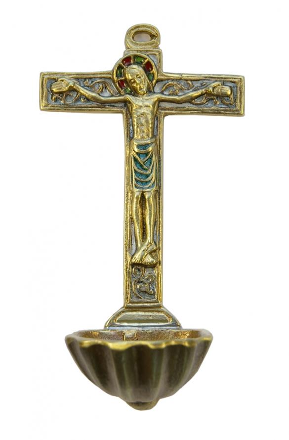 0130-Benitier-coquille-St-Jacques-crucifix-croix-blanc-15cm