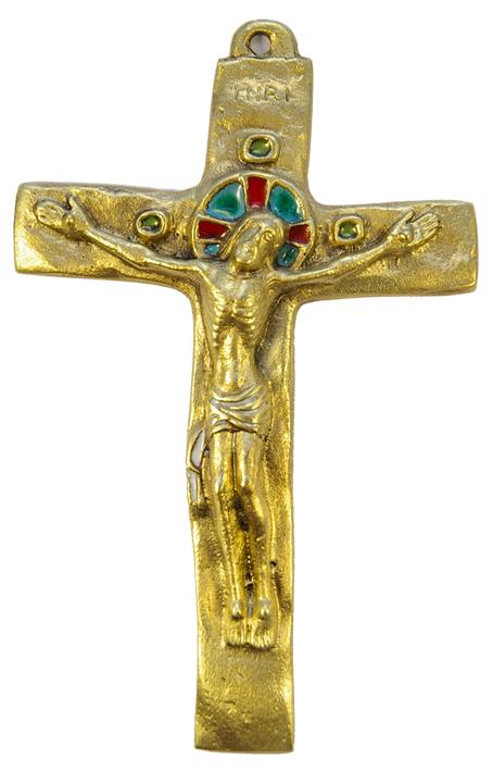 062-Crucifix-blanc-bronze-croix-INRI-15-5-cm