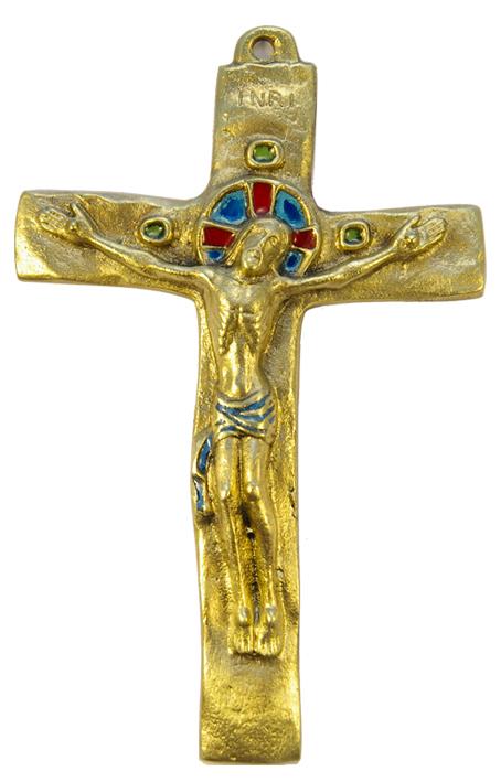 062-Crucifix-bleu-bronze-croix-INRI-15-5-cm