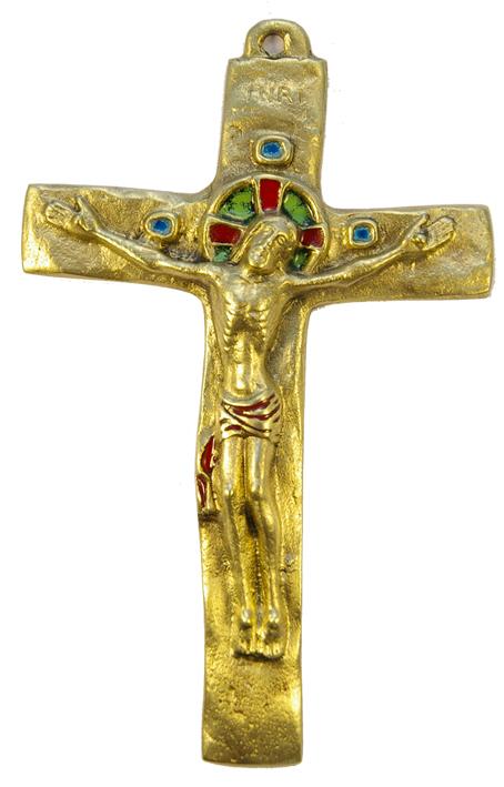 062-Crucifix-rouge-bronze-croix-INRI-15-5-cm