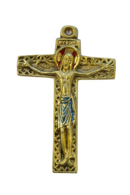 10-symboles-Christ-croix-motif-geometrique-emaux-bleu-12cm