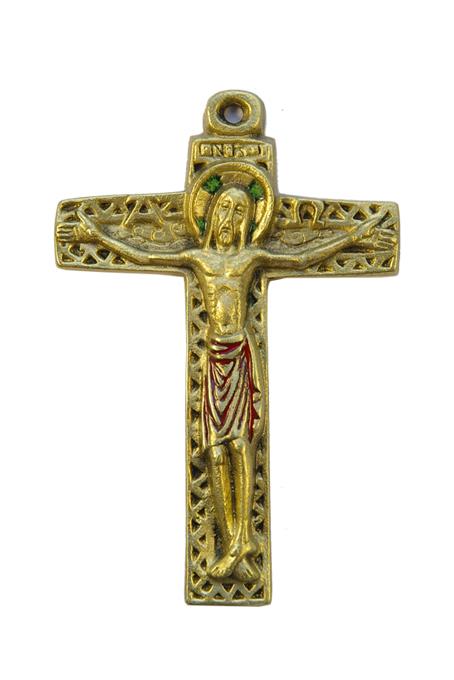10-symboles-Christ-croix-motif-geometrique-emaux-rouge-12cm