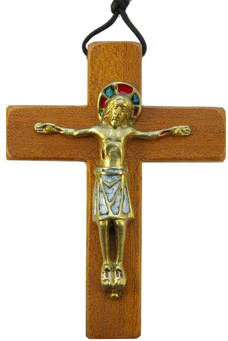 330-13-5cm-Christ-blanc-roman-croix-bois-4-variantes