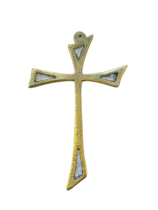 L14-Croix-murale-asymetrique-bronze-art-religieux-blanc-12cm