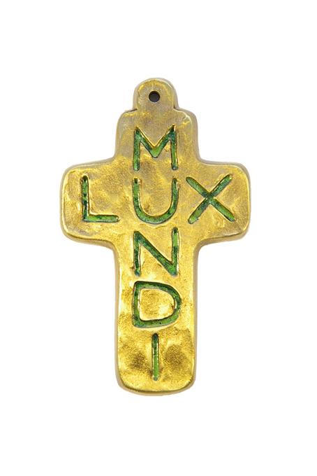 L21-Lux-Mundi-Croix-murale-emaux-vert-9-5cm