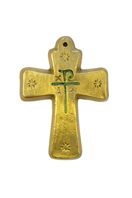 L23-etoiles-monogramme-Chrisme-vert-croix-symboles-9-5cm