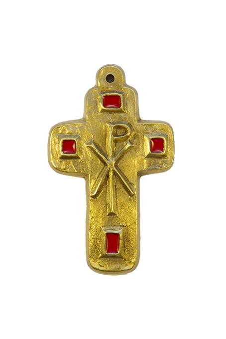 L24-Cabochons-emaux-Chrisme-croix-murale-rouge-9-5cm