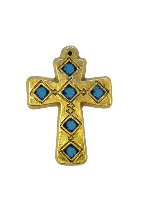 L26-croix-murale-medievale-bleu-9-5cm