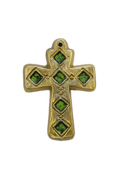L26-croix-murale-medievale-vert-9-5cm
