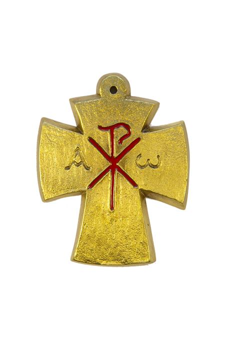 L27-rouge-Alpha-Omega-Chrisme-croix-bronze-email-9-4cm