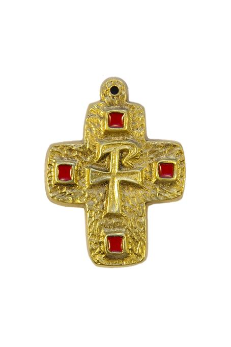 L29-Monogramme-Chrisme-croix-cabochons-rouge-7-8cm