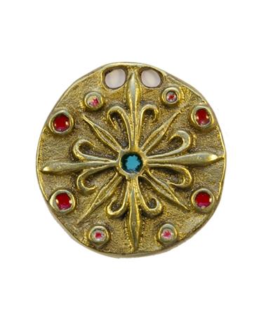 740-Pendentif-fleur-de-lys-rouge-5cm