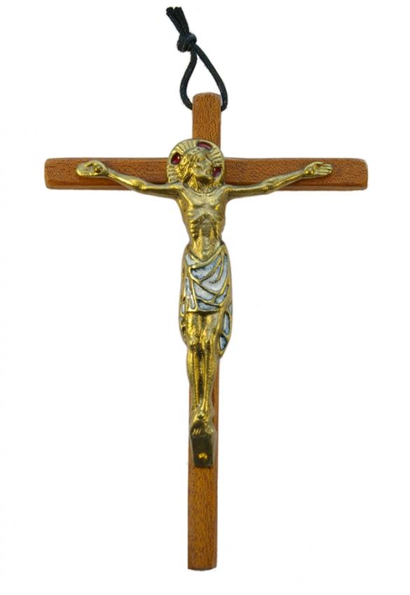 0111-18cm-blanc-Christ-bronze-email-croix-bois