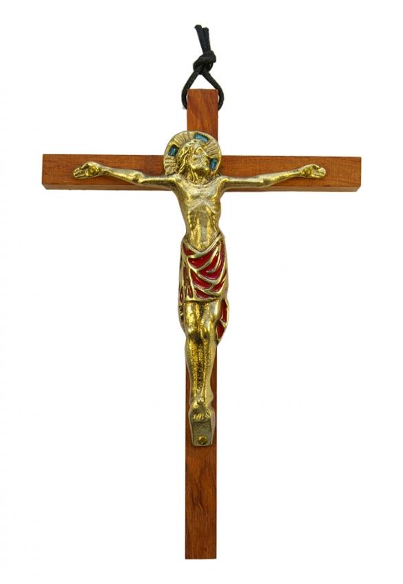 0111-18cm-rouge-Christ-bronze-email-croix-bois