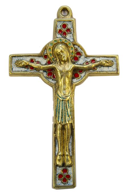 019-Crucifix-emaux-blanc-trefles-croix-celte-15cm