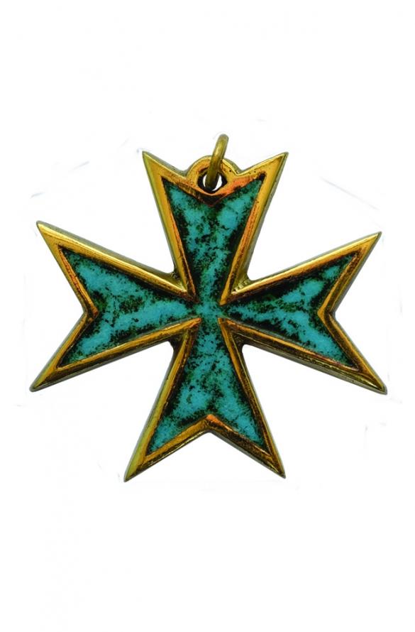 Pendentif croix bronze