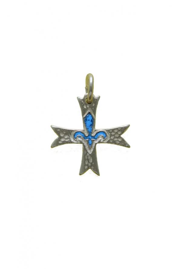 Croix scoute bleu